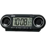【割引クーポン対象】SEIKO CLOCK(セイコークロック) RAIDEN(ライデン)大音量デジタル電波目覚まし時計(黒) NR531K