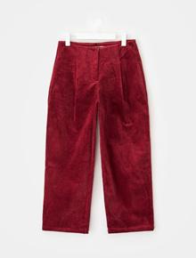 8SECONDS Corduroy lebar Baggy Fit Pants - Wine