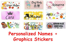 [Kirei Love] Personalized Colorful/Cartoon Waterproof Name Stickers
