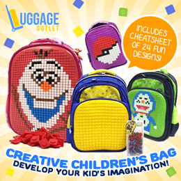 ★Best Gift for Kids★Customizable Creative Children Bag Personalized DIY Jigsaw Backpack Unique