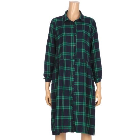 コインコーズの裾に広がることチェックのシャツ、ワンピースIY7AO3410 面ワンピース/ 韓国ファッション