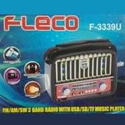 Fleco Classic F-3339U Speaker with 3 Radio Bands | Support USB-MicroSD-