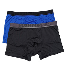 HUSH PUPPIES 2PCS MENS BOXER BRIEFS |  MICROFIBER ELASTANE |SEASONAL #937313