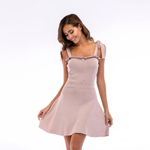 Mini Dress For Women Girls Cotton Slim Fashion