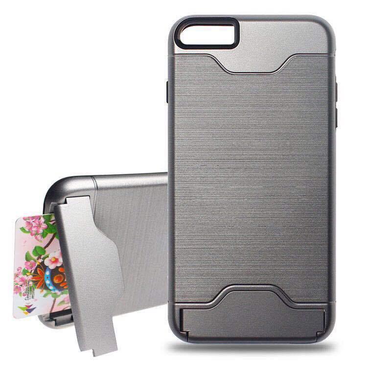 【手機殼】iPhone插卡手機殼 i5/6/7/8/X 可插卡手機殼 PLUS保護貼 SE插卡潮流手機殼 iPhone手機殼 五色可選