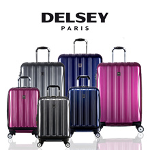 (Group) Delsey Helium Aero 69cm 4Wheel Expandable Travel Luggage Hard Case (Blue/Purple/Silver)