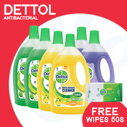 [RB] 【Dettol】– Multisurface Cleaner 2.5L/ 3L - Lavendar/ Citrus/ Green Apple/ Jasmine