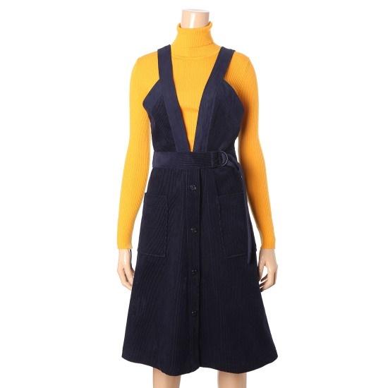 ジューシージュディコーデュロイサスペンダーワンピースJROP722E 面ワンピース/ 韓国ファッション