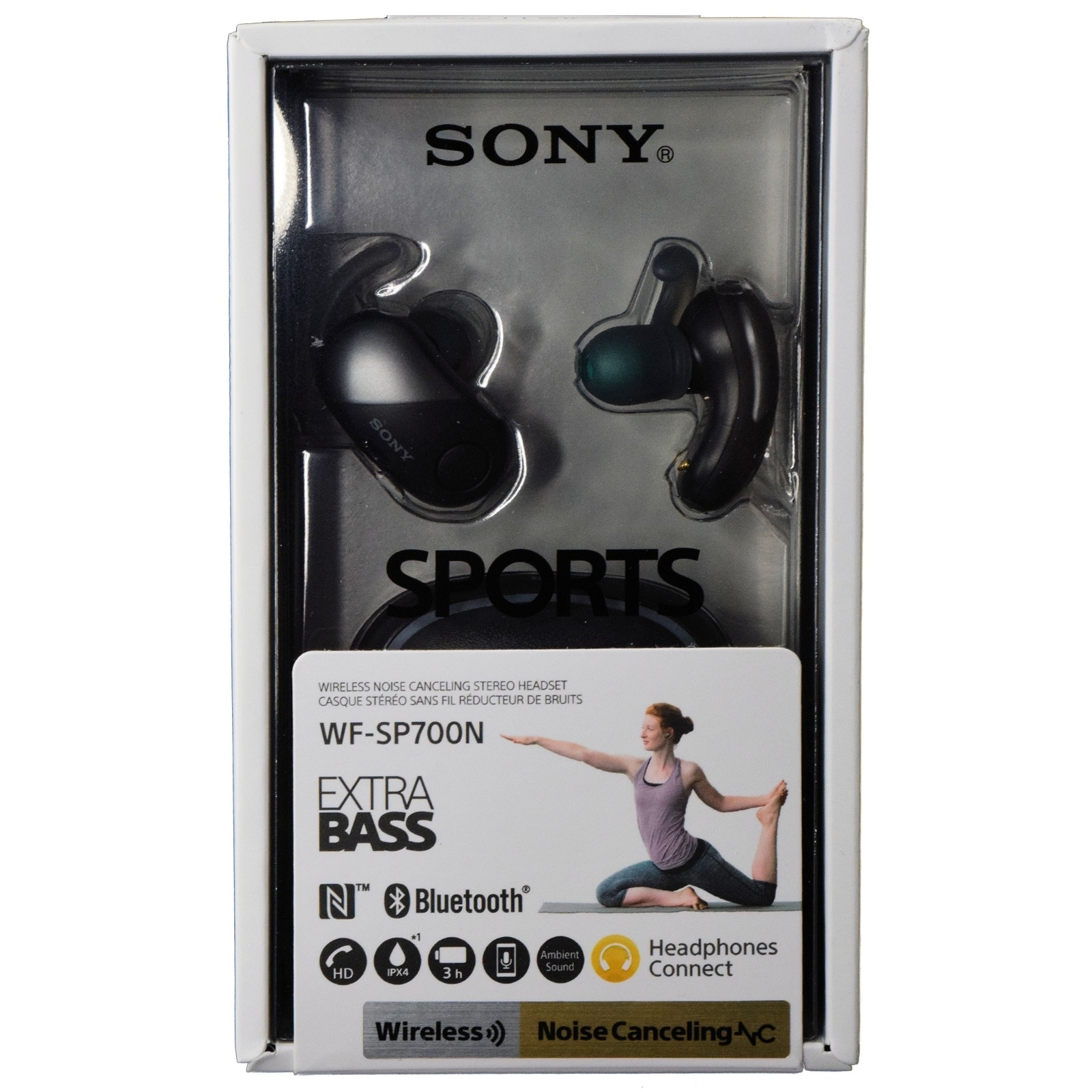 1a603c91483 fit to viewer. prev next. Sony WF-SP700N Sports True Wireless Noise  Canceling Earbud Headphones - Black