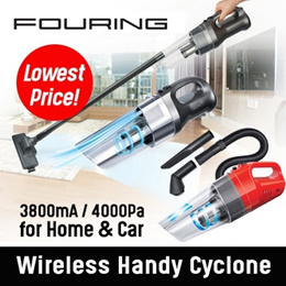 [FOURING] Handy Cyclone Wireless Vacuum Cleaner NZ835 - Car and Home 2 in 1 / Neo Only Car /