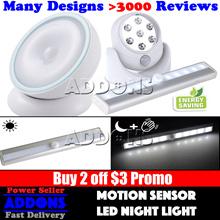 【BUY 2 GET $3 OFF】Portable Wireless Motion Sensor / LED Night Light / Auto Adjustable Sensor Light