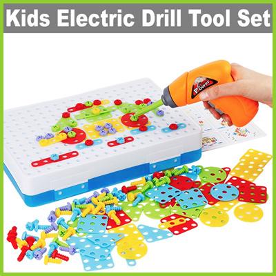 Qoo10 Life Kids Electric Drill Tool Kit Role Play Set Drill