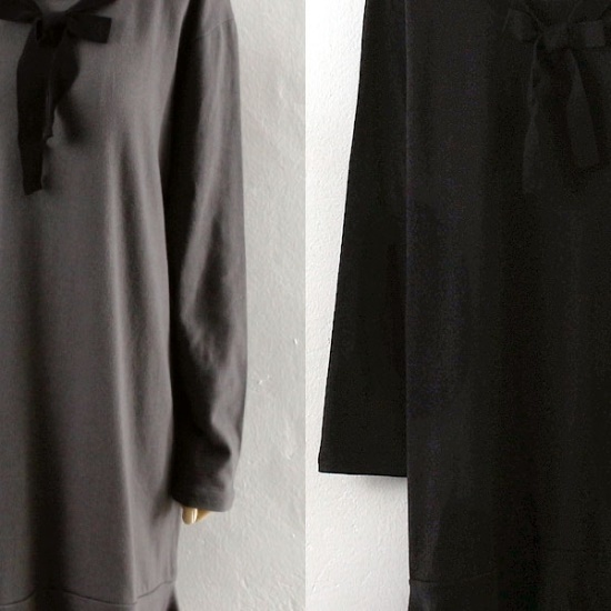 ウィスィモールRIブルリリボンディテールワンピースY710M 綿ワンピース/ 韓国ファッション