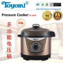 TOYOMI Electric Pressure / Rice Cooker 3L [Model: PC 3070]  1 Year Warranty