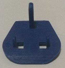 Universal Plastic Plug Key for uk plug to euro plug eu plug 3 port to 2 port electric adaptor