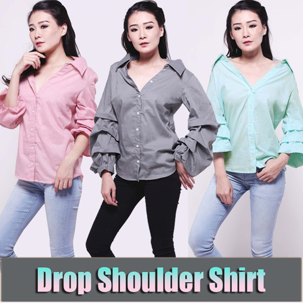 [BIG SALE RAMADHAN] Atasan Wanita Drop Shoulder Shirt Deals for only Rp86.800 instead of Rp124.000