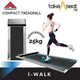 I-Walk Treadmill | Walk Pad | Compact and Small Treadmill | Easy Storage | Home Gym