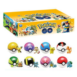 7.5cm Pokeball + 8pcs/12pcs Pokemon Figures Anime Action Figures 8pcs/lot pokeball Toys for kids Gif
