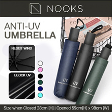 Anti-UV Umbrella |SPF | Blackout | Waterproof | Compact | Light | Wind resistant