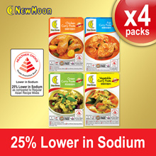 AUTHENTIC Singapore Flavours New Moon Curry Paste Deal (Chicken/Fish/Green/Vegetable Curry)