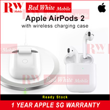 Apple AirPods 2 with Wireless Casing Year SG APPLE Warranty Ready Stocks | Buy Td Collect Td