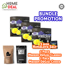 3 box Himalaya Salt Sports Candy  + 1 Pack Maison De Gigi White Coffee Classic + 1Pack Choco Bundle