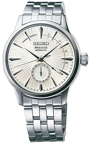 ▶$1 Shop Coupon◀  SEIKO PRESAGE Power Reserve Silver Cocktail Time