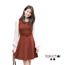 TOKICHOI - Belted Side Button Dress-172911-Winter