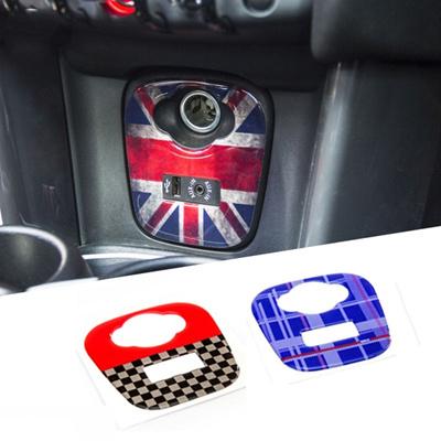 Union Jack Car Cigarette USB AUX Console Panel Decorative Stickers Decals  for Mini Cooper JCW F55 F5