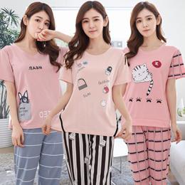 Short sleeve /Long pants sleepwear/Women Pajamas Set /Girl Sleepwear /Home wear/cute pajamas