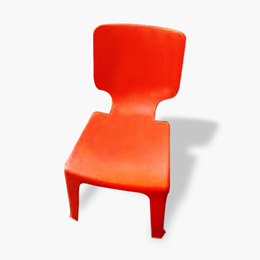 ♦ BUY 2 Get 2 FREE♦ Plastic Chair Orange with high look and durability ♦ Stacked Chairs | Strong And
