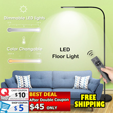 ⚡BIG PROMO⚡Floor LED Light Dimmable and Color Adjustable Remote Control Touch Standing Lamp Eye care