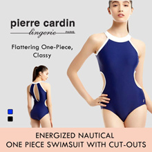 Energized Nautical One Piece Swimsuit with Cut-outs
