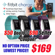 [FITBIT] CHARGE 2 PurePulse Heart Rate / Multi-Sport Tracking Connected GPS / CALL