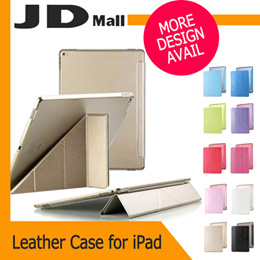 [JD Mall]★Silk Pattern Foldable PU leather holder Case Cover For iPad 2 3 4 Mini 1 2 3 4 Air 2