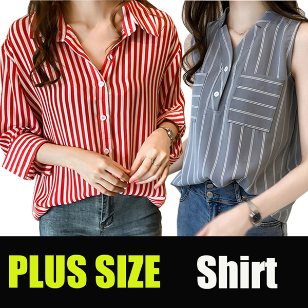 tops Plus size Career shirt Chiffon Blouse Casual shirt Short sleeve t-shirt/top Deals for only S$10 instead of S$10