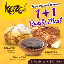 1 for 1 Buddy Meal $5.80 KAZO [Choose Any 2 Kazo + 2 Drinks]