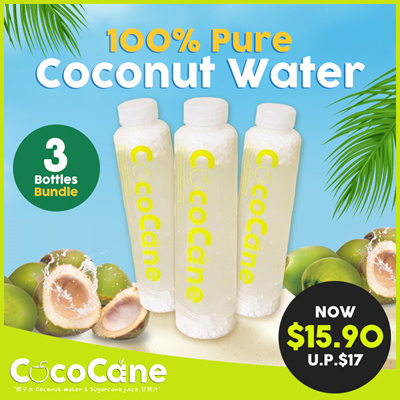 3 x Bottle 100% Pure Coconut Water