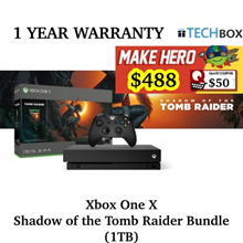 Xbox One X Shadow of the Tomb Raider Bundle (1TB) | 1 YEAR WARRANTY | BRAND NEW