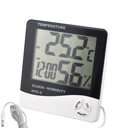 Brand New HTC-2 Digital Large LCD Display Clock. Temperature Humidity Meter Thermometer Hygrometer Calendar Time Alarm Desktop. 1.5m Sensing Line. Local SG Stock and warranty !!