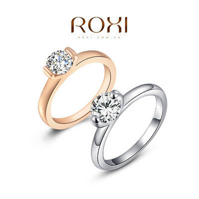 Free Shipping Chrismas Birthday Gift Swiss CZ To Girl Friend RING Top Quality Wedding Rings