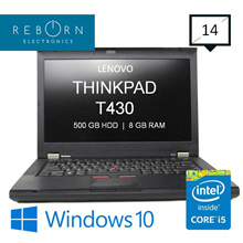 [Refurbished] LenovoThinkpad T430/ IntelCore I5 3rdGen / 500GB HDD/ 8GBRAM / Wins10/ 30days Warrty