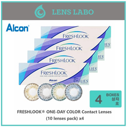 Alcon FRESHLOOK ONE-DAY COLOR Contact Lenses PWR 0.00 ~ -6.00 (10 lenses pack) x4