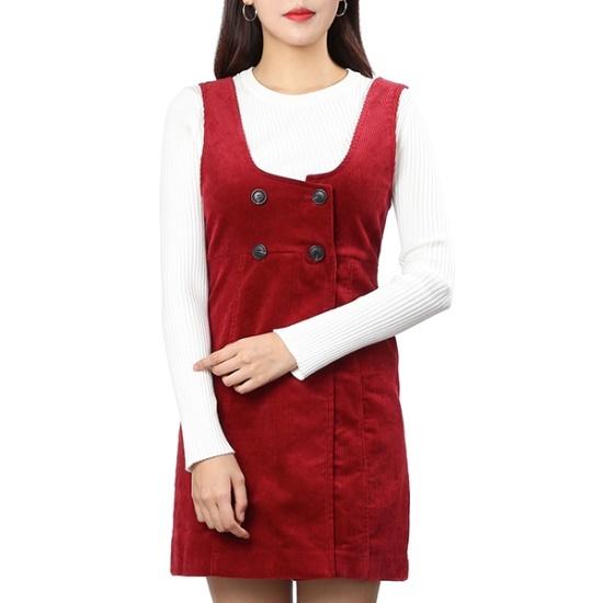 ラブLAPコーデュロイミニサスペンダーワンピースAH4WOA63 面ワンピース/ 韓国ファッション