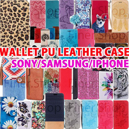 Lowest Price PU leather wallet cover case for iPhone  X 8 7 6 5 Samsung Note 9 S9 S9 Plus S8 Note8