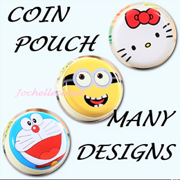 Cute Coin Pouch Birthday Party Gifts Cartoon Round Goodies Bag Metal Earphone Pouch