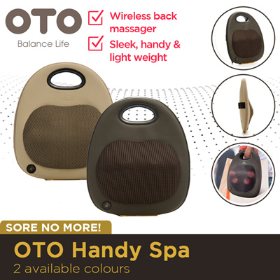 OTO Handy Spa Wireless back massager. Soothing heat therapy/Lightweight.