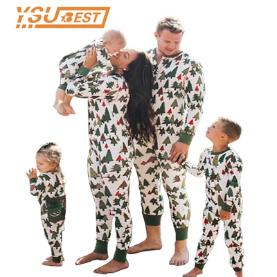 Family Christmas Pajamas 2019.2019 New Year Family Christmas Pajamas Matching Clothes Mother Daughter Son Outfits Clothes Family M