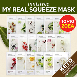 ★10+10★ [innisfree] MASK COLLECTION / my real squeeze mask sheet / Skin clinic