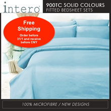 LIMITED ! FLAT PRICE! Hillcrest Studio Basic NEW SOLID/ Printed COLOURS 900TC Fitted Bedsheet se